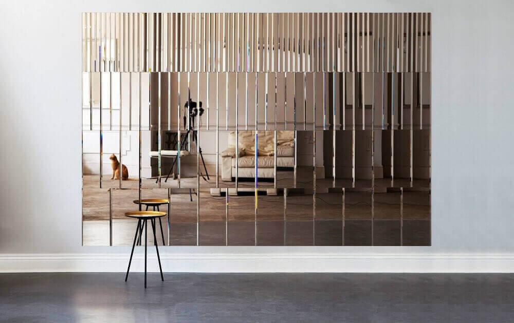parede revestida com espelho de bronze Foto Tile Design Gallery