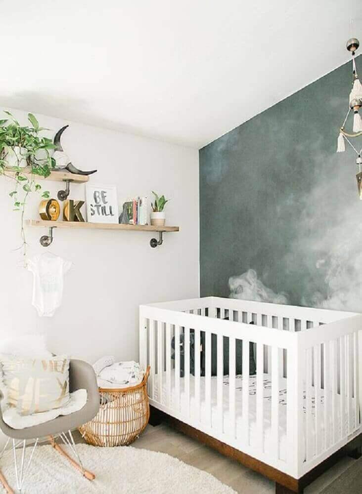 quarto de bebê com decoração estilo escandinava com cadeira de amamentação moderna Foto Design Asylum Blog