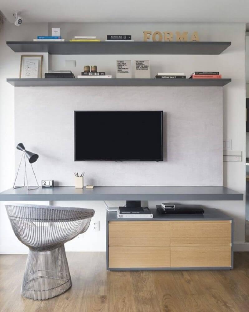 sala com cadeira moderna Foto Triplex Arquitetura