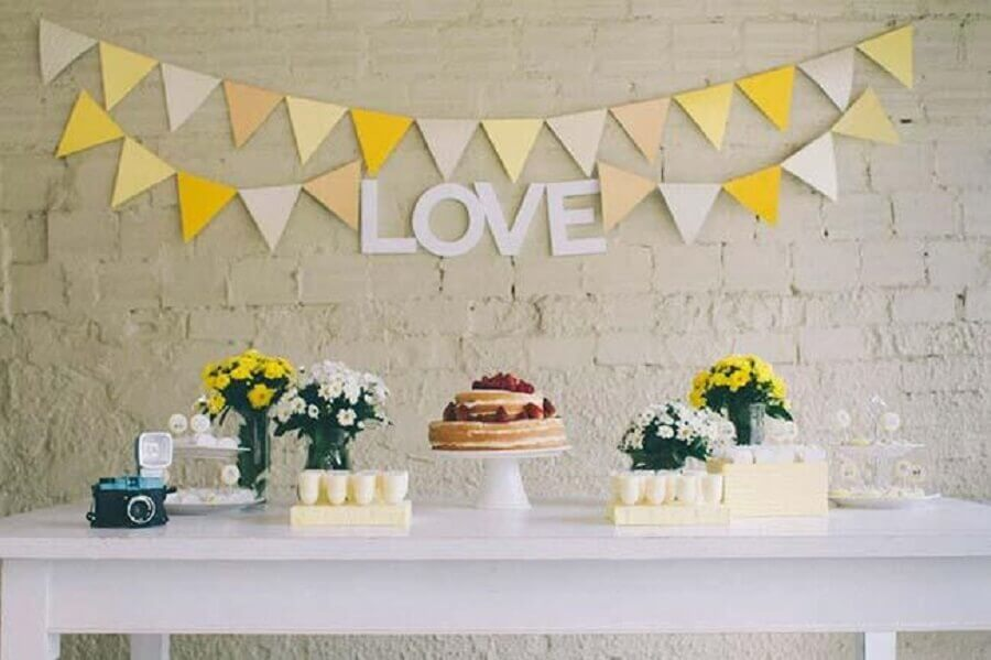simples decoração para casamento em casa Foto Home Decoo