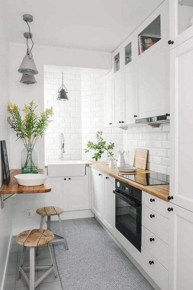 tapete de cozinha cinza para cozinha pequena Foto Gescultura