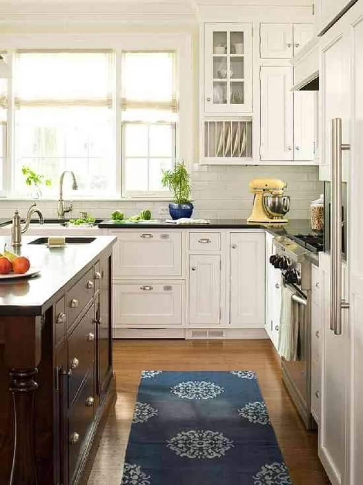 tapete de cozinha pequeno para cozinha planejada Foto Pretty Inspiration