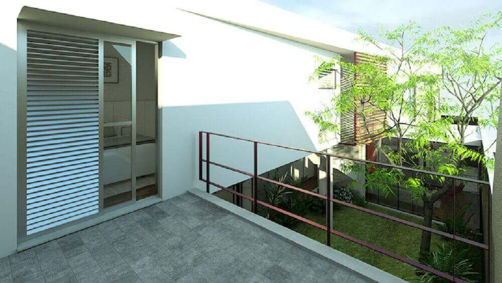 varanda com guarda corpo de ferro Foto OD VO