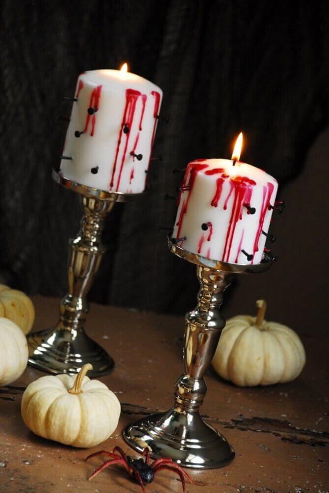 velas decoradas para dia das bruxas Foto The Senpai King