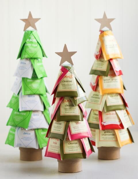 Árvore de natal artesanal com sacos de chá Foto de Thirsty For Tea