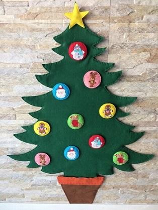Árvore de natal artesanal de feltro Foto de Rosa Prendada