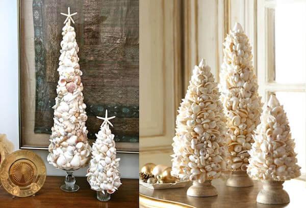 Árvore de natal artesanal feita com conchas Foto de Dumna Padu