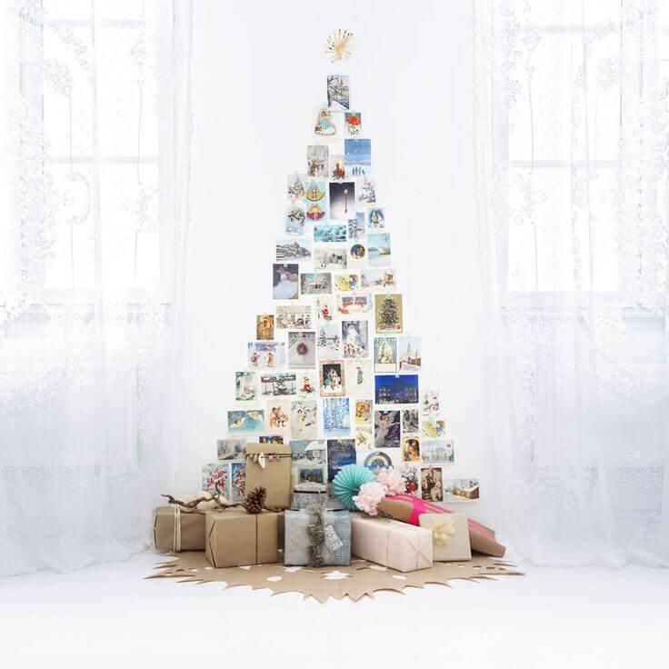 Árvore de natal artesanal feita com fotos Foto de Mint Light