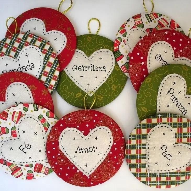 Artesanato de natal repleto de mensagens especiais