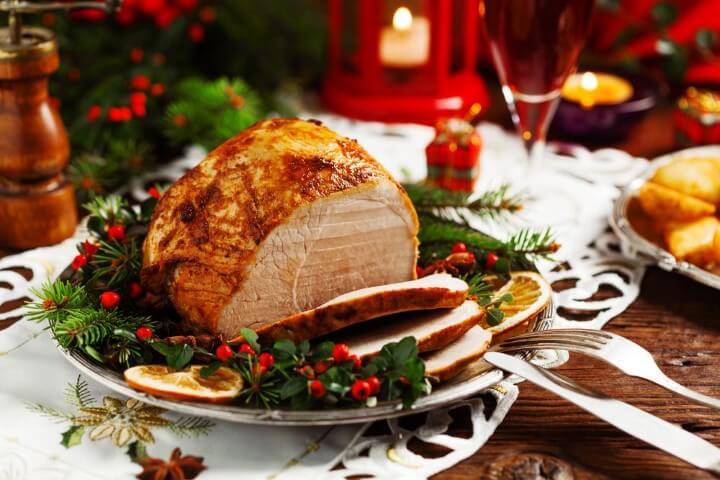 Ceia de natal com carne Foto de Stanky Groove