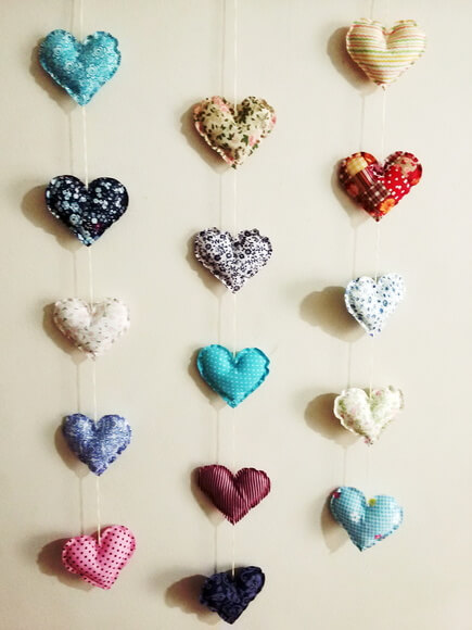 Cortina de coração com estampas variadas Foto de Pé de Feltro