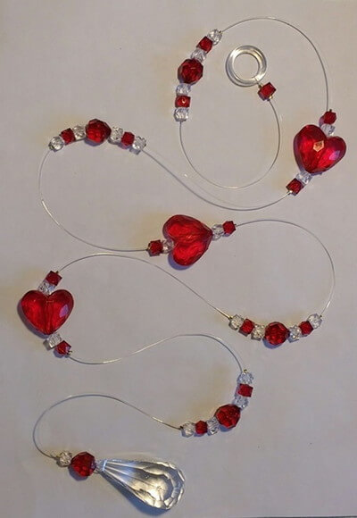 Cortina de coração de miçanga Foto de Art&Ornamento