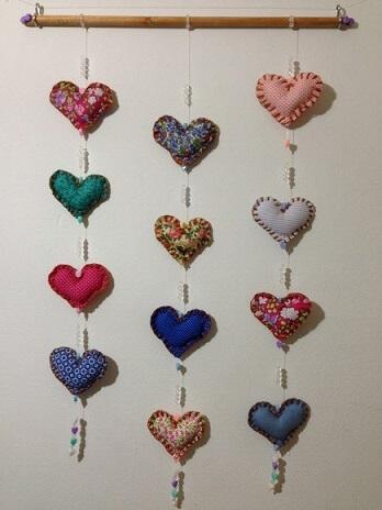 Cortina de coração estampado Foto de Atelier Amanda Dantas