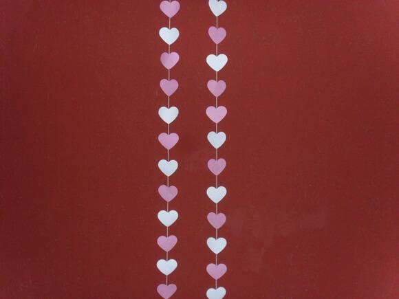 Cortina de coração rosa e branco Foto de Selma Viana