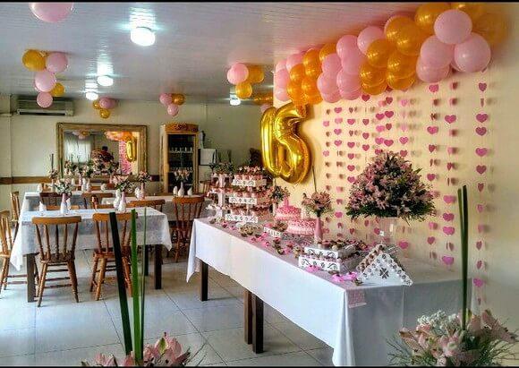 Cortina de coração rosa em festa de 15 anos Foto de Dalma Mendes