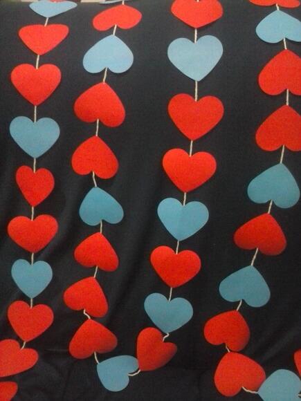 Cortina de coração vermelho e azul Foto de Selma Viana