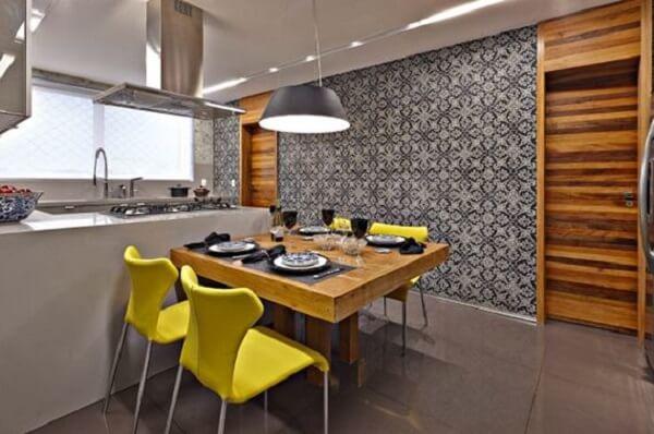 Cozinha americana pequena para apartamento