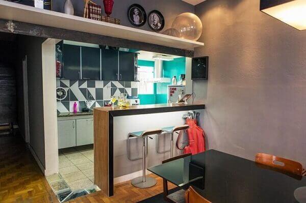 Cozinha americana pequena para espaços limitados