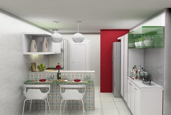 Cozinha americana pequena projeto