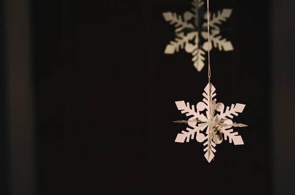 Decoração de natal simples e barata adorno pendente