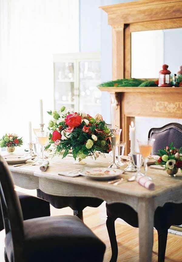 Decoração de natal simples e barata com elementos naturais