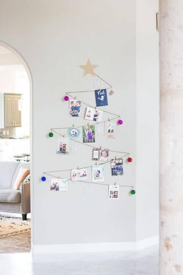 Decoração de natal simples e barata em parede
