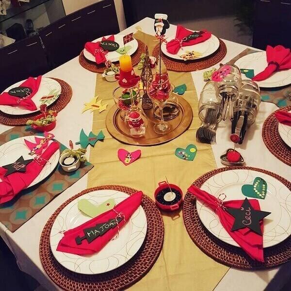 Decoraç u00e3o de Natal Simples e Barata +80 Inspirações -> Decoração De Natal Simples E Barata Para Mesa