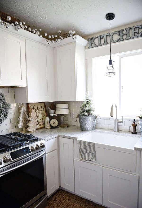 Decoração de natal simples e barata para cozinha