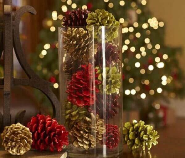 Decoração de natal simples e barata vela