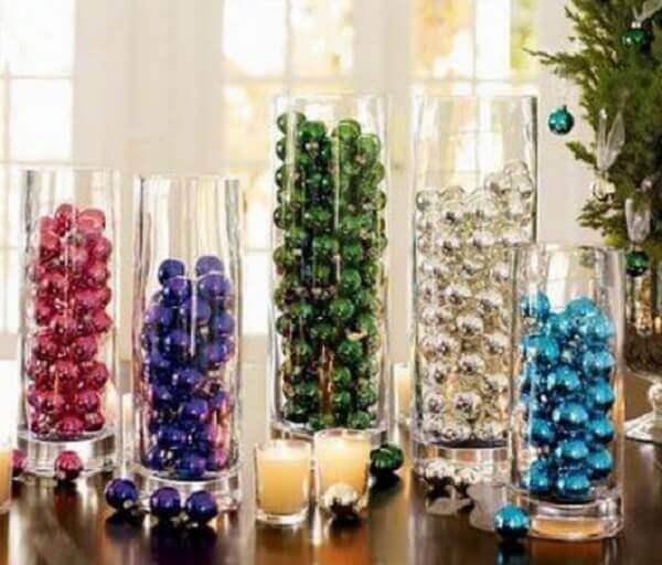 Decoração de natal simples e baratas recipientes para guardar bolas de árvore de natal