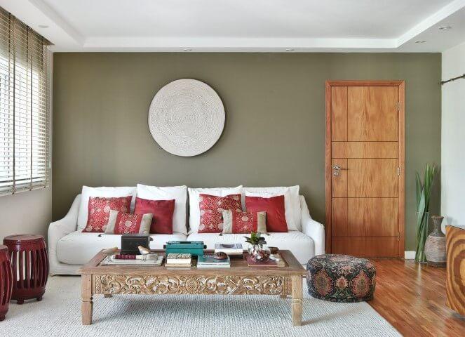 Decoração de sala com estilo zen Projeto de Tetriz Arquitetura