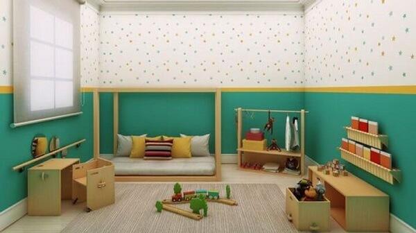 Decoração para- quartos pequenos linha baixa