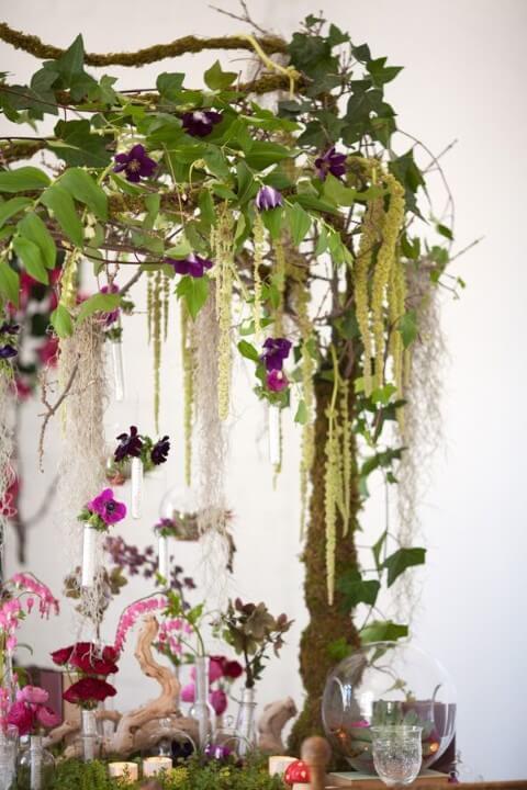 Festa jardim encantado com decoração natural Foto de Pinterest