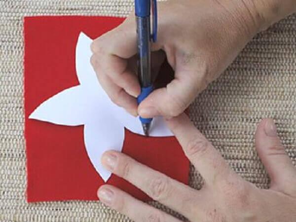 Flor de natal em EVA modo de fazer