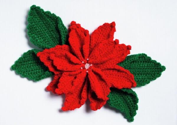 Flor de natal em crochê