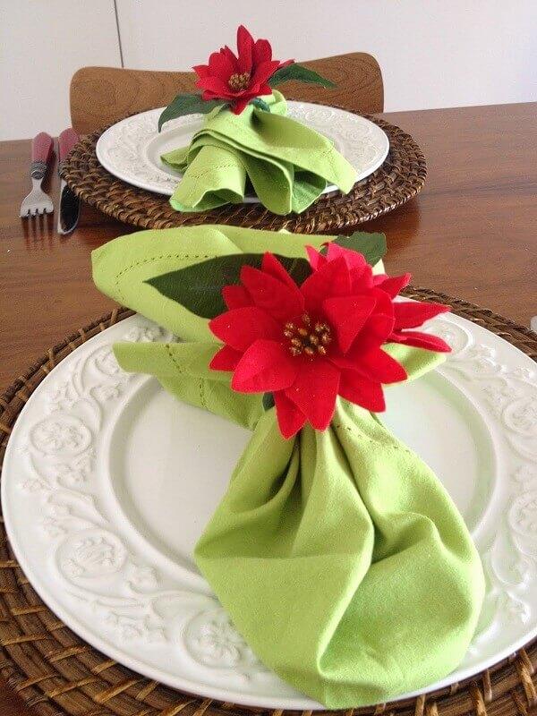 Flor de natal para decorar mesas