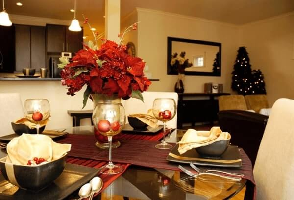 Flor de natal para mesa da ceia