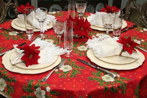 Flor de natal para mesa