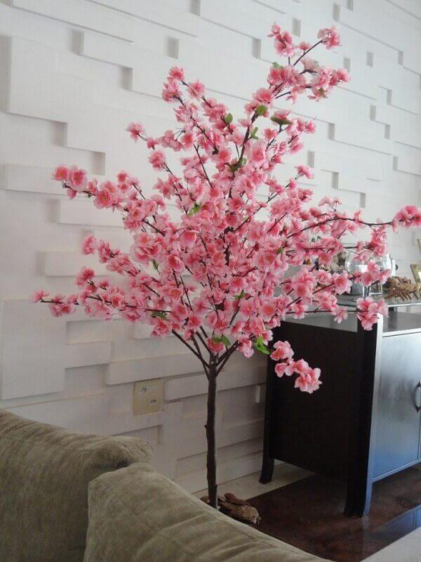 Flores artificiais arranjo para canto da sala