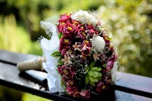 Flores artificiais buquê para noivas