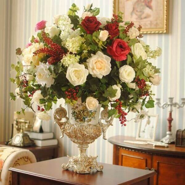 Flores Artificiais +50 Arranjos Incríveis para Decorar -> Decoração Arranjos De Flores Artificiais