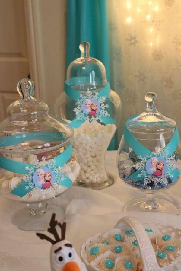 Ideias criativas doces em vasos transparente