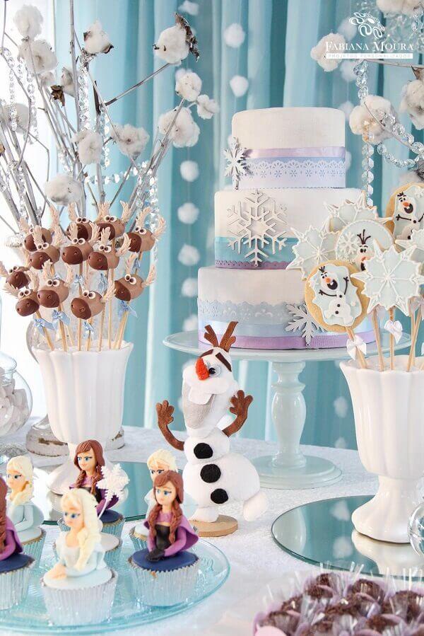 Ideias criativas festa frozen mesa