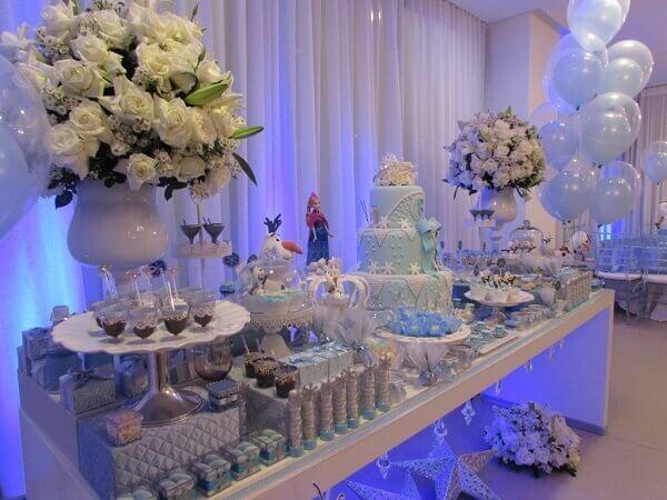 Ideias criativas mesa decoração frozen
