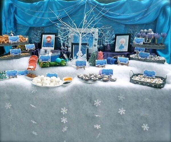 Ideias criativas mesa frozen