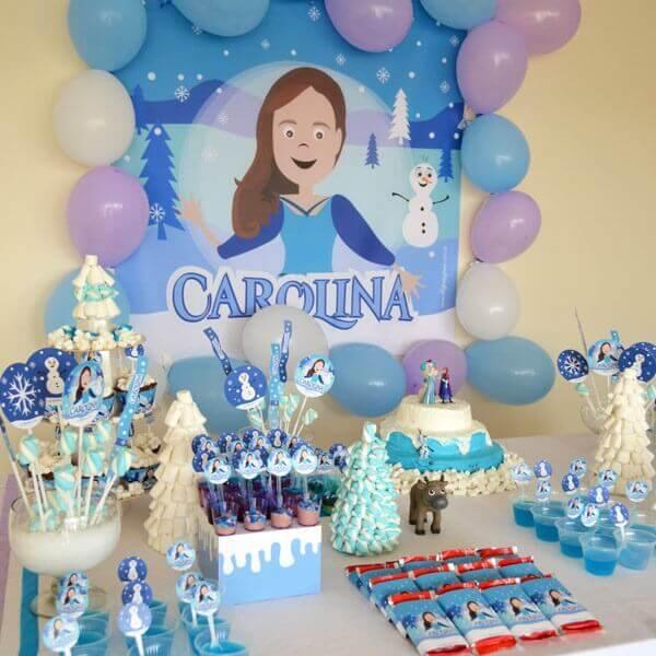 Ideias criativas para aniversário simples com o tema frozen