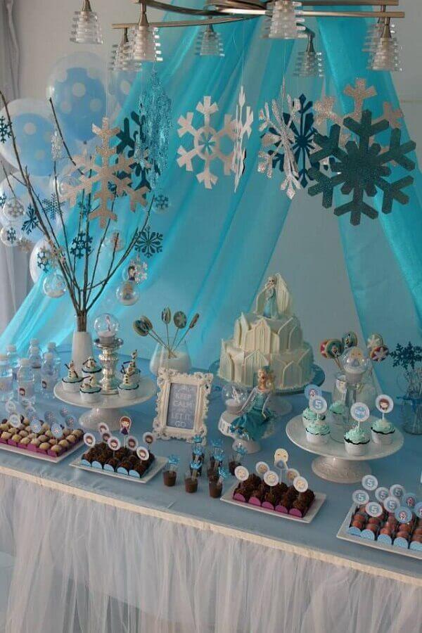 Ideias criativas para festa frozen