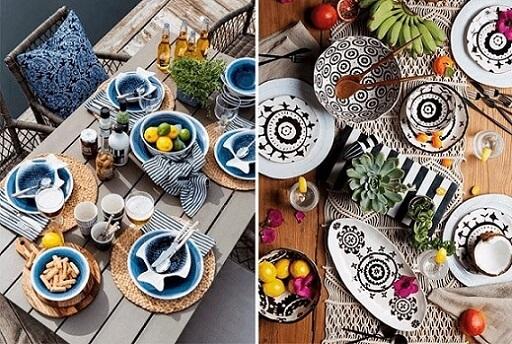 Ideias de organização de mesa de jantar