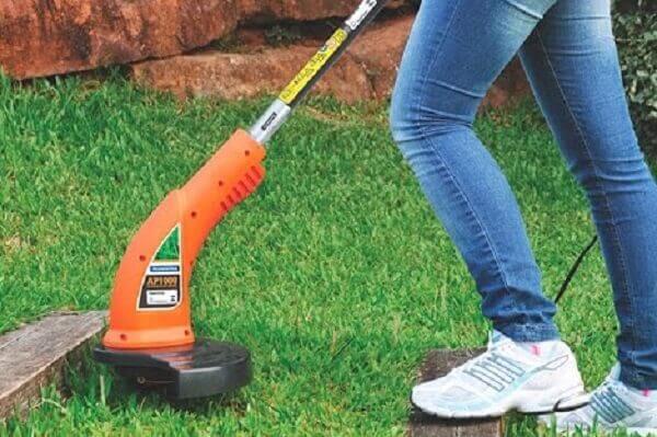 Jardinagem aparador de grama com fio de nylon