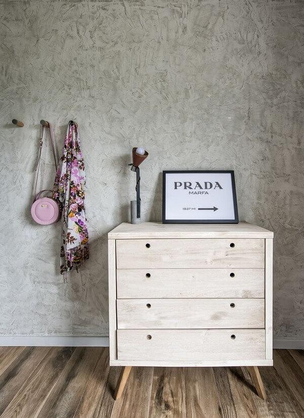 Marmorato efeito parede de quarto pequeno